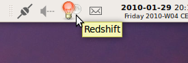 Redshift status icon